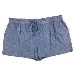 A New Day Size 4X Denim Chambray Shorts Stretch